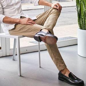DOCKERS Signature Khaki Pants 38x30 Slim Tapered